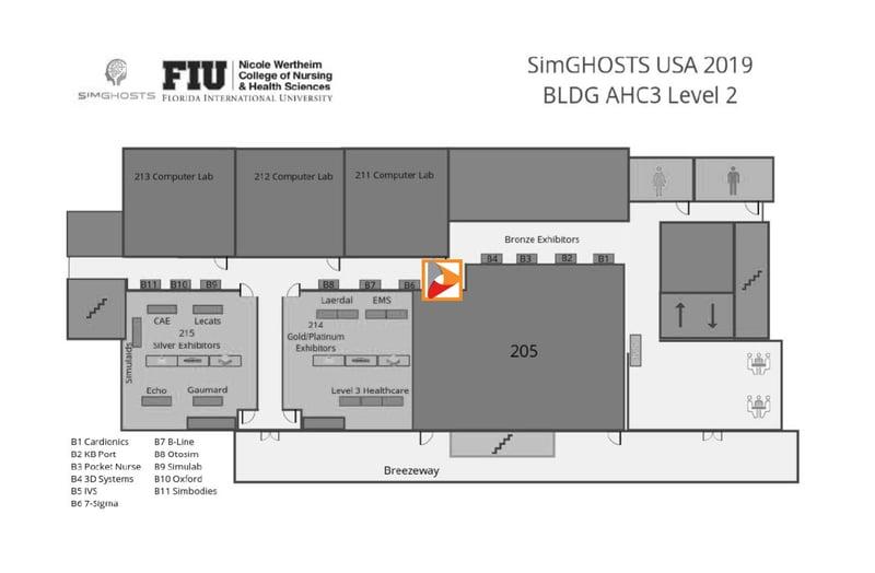 SimGHOSTS 2019 Exhibitor Layout