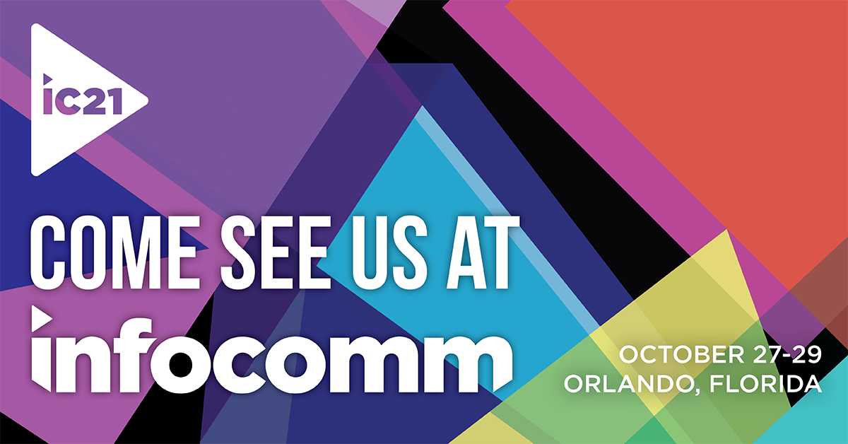 IVS will be exhibiting at the InfoComm Conference (Oct 23 – 29)